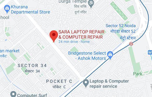 Map location of SARA Laptop Repair